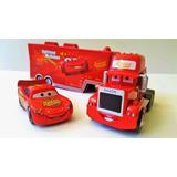 Despacho Gratis!! Cars Pixar Camión Mack + Rayo Mcqueen
