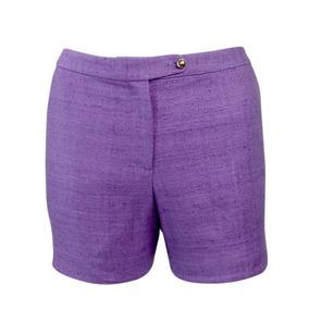 Pantalón Corto Leona Por Lauren Leonard De Seda (6 Violeta)