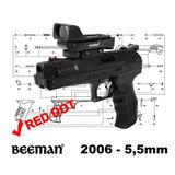Pistola Pressão Beeman 2006 5,5mm + Red Dot+ Chumbinhos