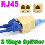 Rj45 Splitter Plug Adaptador Duplicador Divisor