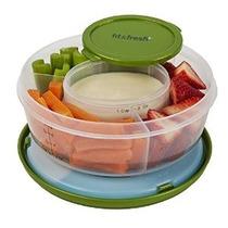 Fit & Frutas Frescas Y Vegetales Tazón Con Extraíble Bolsa D