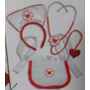 Fantasias Festas Kit Enfermeira Doutora Médica Carnaval