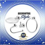 Accesorio Baño Fp Style 4 Piezas Lujo 5 Años Garantia