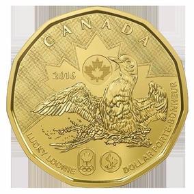 Moeda Canadá 2016 1 Dólar Jogos Olímpicos Rio 2016 Nova