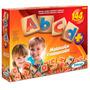 Brinquedo Pedagógico Madeira Abcd Alfabeto Letras 144 Peças