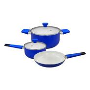 Batería De Cocina Cool Bazar 5 Pz Cerámica Antiadherente