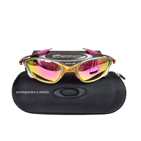 Oculos 24k Rosa + Estojo + Teste Polarização 12x Sem Juros