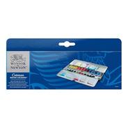 Caja Acuarelas Winsor Blue Box Cotman Metalica X 24
