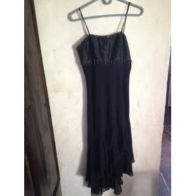 Hermoso Vestido Negro De Fiesta