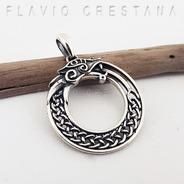 Pingente Oroboros Serpente Celta, Prata 925. Fp 31066401