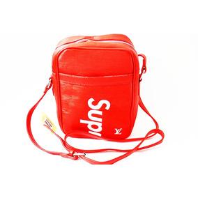 Manos Libres Louis Vuitton Supreme Carriel Bolso Rojo/blanco