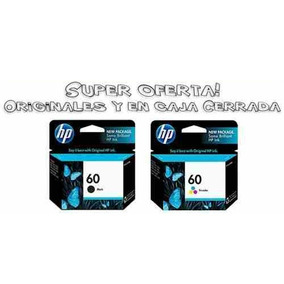 Cartuchos Hp 60 Negro+hp 60 Color-oferta Combo!2 Originales!