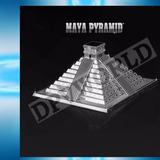 Rompecabezas 3d Piramide Mayas Metalico Piezas Armables