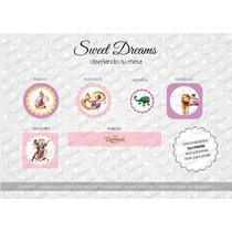 Stickers De Rapunzel Cortados Para Candy Bar O Mesa Dulce