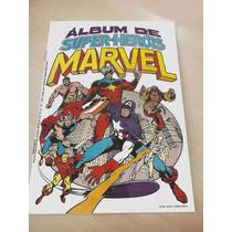 Álbum De Super Heróis Marvel 1981 - Figurinhas Para Colar