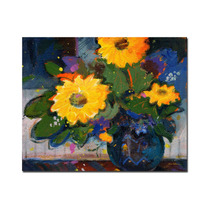 Tree Yellow Flowers Canvas Art By Sheila Golden