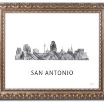 Arte Impreso Marlene Watson San Antonio Texas Skyline Orna