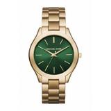 Relógio Michael Kors Mk3435 Verde Dourado Mp12