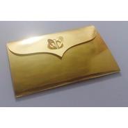 22x15 Cm - 25 Sobres Invitación Media Carta - Oro - Plata