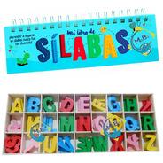 Libro Silabas + 130 Letras Caja Didacticos Educativos Niños