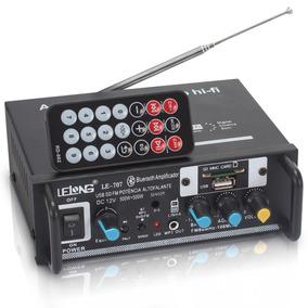 Amplificador Áudio Receiver 120w Bluetooth Som Ambiente Usb