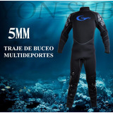 Traje De Buceo 5mm (multi Deportes) Talla S, M, Xl, Xxl