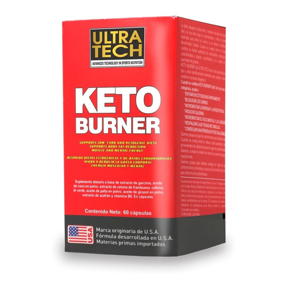 Keto Burner Ultra Tech X 60 Cápsulas Quemador De Grasas