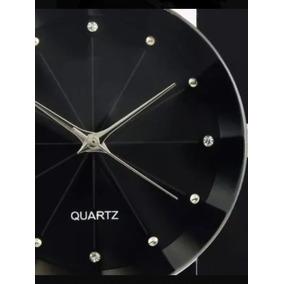 Relógios Femininos Quartz Pulseira Couro Preta Black Friday
