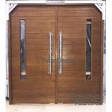 Portón Puerta Doble Madera Oblak 2338 Paño Para Vidrio 160cm