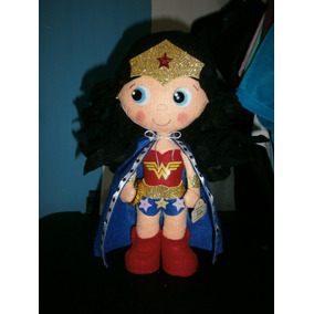 Mujer Maravilla 30ctms, Peluche, Muñeco, Figura En Fieltro