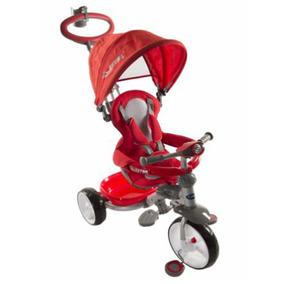 Triciclo Kiddy Astro 4 En 1 Rojo Rosa Negro Punto Bebe