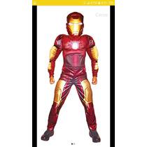 Disfraz Iron Man Musculoso Talla 8 Marca Carnavalito
