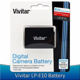 Bateria Vivitar Lp-e10 Para Camara Canon Rebel T3 T5 T6 Eos