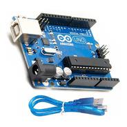 Arduino Uno R3 Original + Cable Usb Chip Desmontable Atmel
