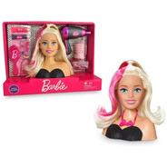 Busto Barbie Styling Hair Penteados C/ Acessorios Pupee 1264