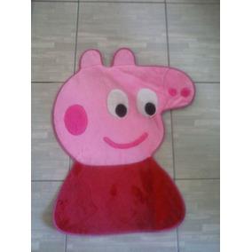 Tapete Quarto Infantil Da Peppa Pig Em Pelúcia 70cm X 65cm
