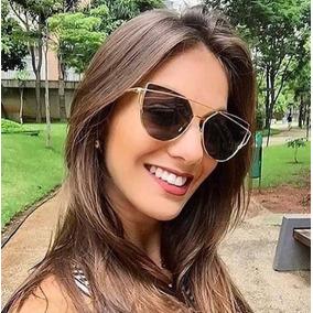 Oculos Sol Feminino Starlight Espelhado Gato Cat Preto Rosa 3a385d7230