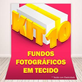 Fundo Fotográfico Em Tecido 1,5x2,2m - Kit Com 10 Fundos