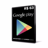 Cartão Google Play Gift Card 63 Reais Br Android Playstore