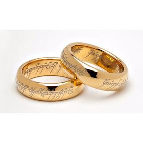 Par Alianças - Senhor Dos Anéis - Tungstênio Folheado A Ouro
