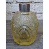 Vidro De Perfume Francês Estilo Lalique Antigo Vazio