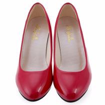 Sapato Plataforma Feminino Clássico Senhoras Elegantes