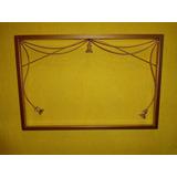 Moldura Em Ferro Sem Espelho 60cm X 40cm Pingente Cor Ouro
