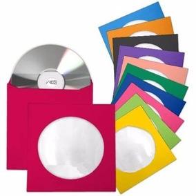 100 Envelopes Papel Para Cd / Dvd Com Visor Transparente
