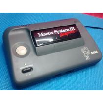 Master System 3- Sonic Na Memória + 2 Controles +cabo Av+led
