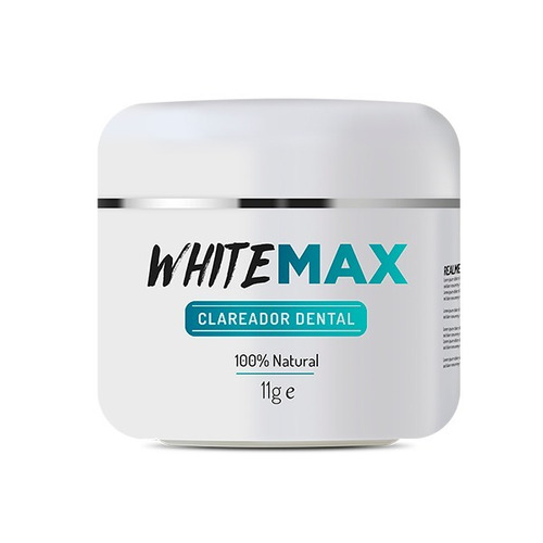 Clareador Dental Whitemax 1 Pote 100% Natural White Max