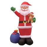 12 Pies Inflable De Navidad Santa Claus Con Bolsa De Regalo
