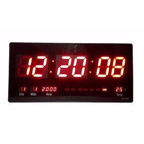 Relógio De Parede Digital Led Gigante Data Termometro Brinde