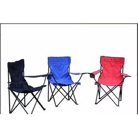 Silla Camping Plegable De Lona Tipo Campismo Con Funda