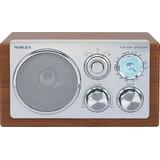 Radio Noblex Vintage Am/fm Rx-40m Diseño Madera Y Aluminio